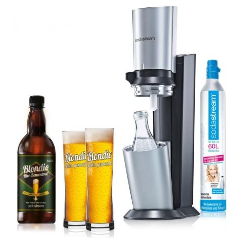 sodastream crystal blondie bier set bier set titan silber wassersprudler neu ebay. Black Bedroom Furniture Sets. Home Design Ideas