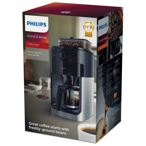 philips hd7765 00 grind brew kaffeemaschine bohnen mahlwerk filterautomat neu ebay. Black Bedroom Furniture Sets. Home Design Ideas